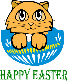 Happy Easter from Bad Cat Chris
