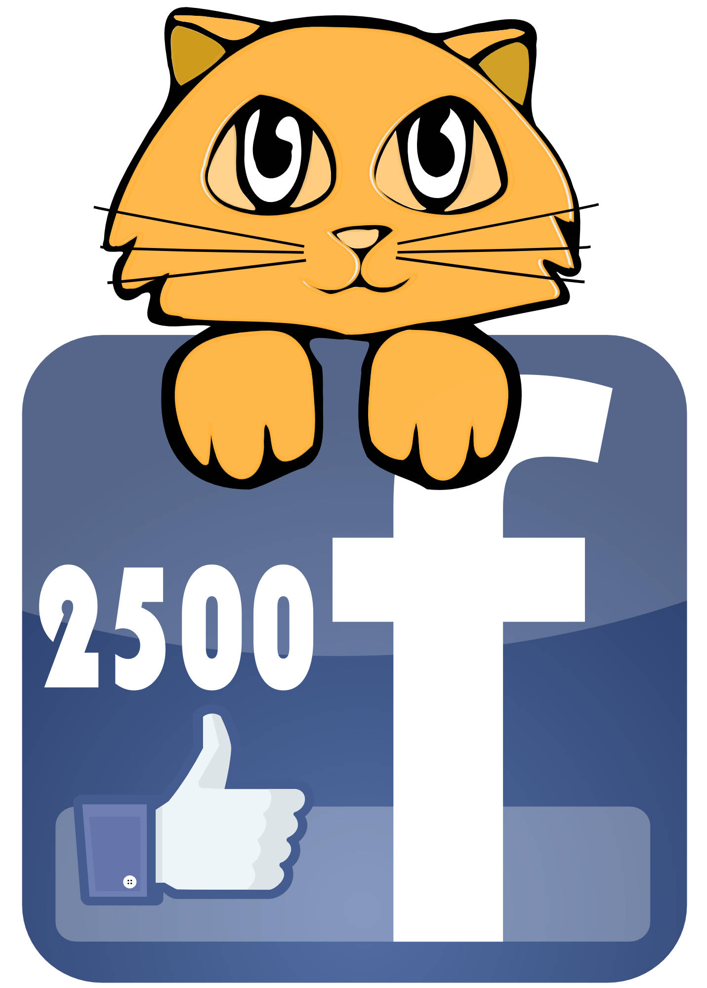 Bad Cat Chris gets 2500 likes on facebook