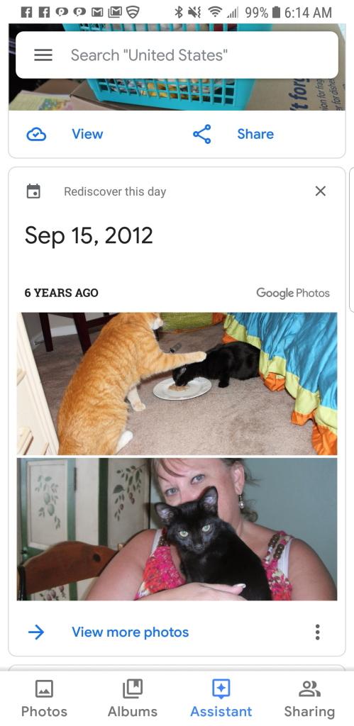 Screen capture from google photos